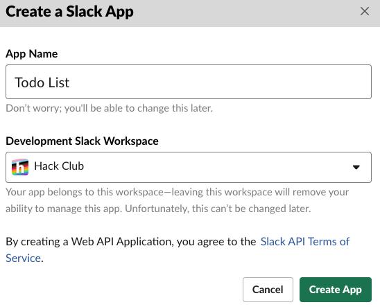 """Arrow pointing to """"Create App"""""""